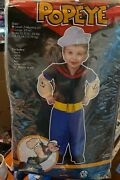 Brand New Popeye Toddler Costume Size 3t-4t Large Child Fun World 7 Piece Outfit
