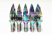 Z Racing 28mm Neo Chrome Spike Cone Seat Lug Bolts 12x1.5mm For Bmw 3-series