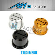 Cnc 1pc Triple Nuts Fit Ducati Supersport Monster 800 900 1100 All Models