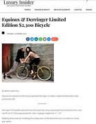 Ultimate Luxury Equinox And Derringer Limited Edition Bicycle Retailed 2300