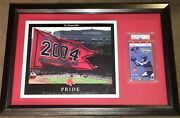 2004 Boston Red Sox Mlb World Series Psa Exclusive Framed Game 4 Ticket 1/1 Stub