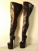 24cm High Height Sex Boots Platform Stiletto Heel Over The Knee Boots No.y2404