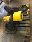Budgit 2 Ton Electric Chain Hoist Behc0216 16 Fpm W/manual Trolley And Pendant