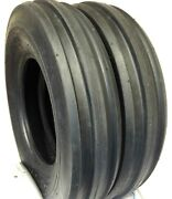 Two 750-16 Ford-new Holland Tractor 3rib Tire F2 7.50-16 10ply Tubeless Tires