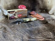 2010 Case Hunter Lockback Knife With Genuine Stag Handles - Mint In Box Ca58137a