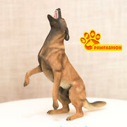1/6 Scale Belgian Malinois Statue Standing Dog Model Resin Gk Accessories Paw