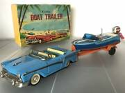 Haji Boat Trailer Friction 1960and039s Made In Japan Rare