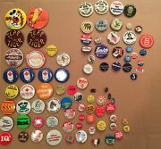 Collectible Pins Buttons, 85 Political, Yankees, Olympics, Nixon, Rizzo, Vietnam