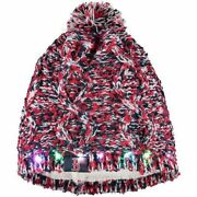 Boston Red Sox Chunky Knit Light Up Logo Beanie Winter Hat Toque Pom Womenand039s
