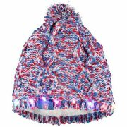 Chicago Cubs Chunky Knit Light Up Logo Beanie Winter Hat Toque Pom Womenand039s
