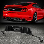 For 2015-2017 Ford Mustang Abs Quad Fin Rear Diffuser+pair Side Valence Body Kit