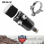 Proflow Twin Inlet 750ml Stealth Black Oil Catch Can Tank And Breather And Drain Tap