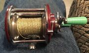 Penn Peer No. 109 Level Wind Fishing Reel With Spider Line Green Handle