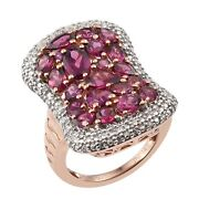 Rose Gold Overlay Plated Sterling Silver Ring With Polished And Well-crafted ...