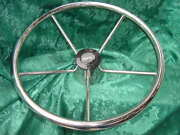 Boston Whaler Boat Steering Wheel 15.5 New Classic 15-1/2 Wow Stainless Steel