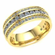 1.7 Ct Round Diamond Ladies Unique 3row Eternity Band With Sizing Bar 14k Gold