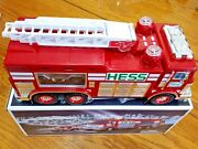Hess 2005 Emergency Fire Truck Toy Bank Rescue Vehicle