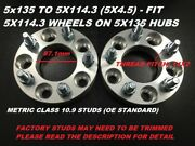 2pc 1 Wheel Adapters Spacers | 5x135 To 5x114.3 5x4.5 87.1mm | 14x2 Studs