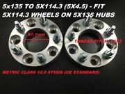 2pc 2 Wheel Adapters Spacers | 5x135 To 5x114.3 5x4.5 87.1mm | 14x2 Studs
