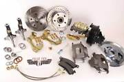 1964-1972 Gm A F X Body Disc Brake Conversion Kit 9 Booster Drilled Rotors