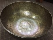 Special Foot Etching-carving Hand Hammered 60 Cm Xxl Singing Bowls