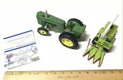 New John Deere 2096 Ertl Toy Tractor And Early Toy Combine Made In Germany