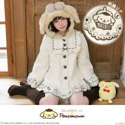 Yumetenbo Pom Pom Purin Collaboration Embroidery Poncho Style Coat M/l/ll