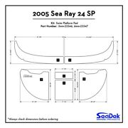 2005 Sea Ray 240 - Seadek Swim Platform Traction Pads - Custom Design / Colors