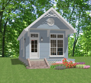 Tiny House Home Plans 1 Bed Cottage 448 Sf --pdf File