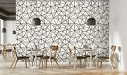 3d Black Wire Frame 421 Texture Tiles Marble Wall Paper Decal Wallpaper Mural Aj