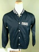 Rare Vintage Nsa National Security Agency Windbreaker Jacket 80and039s M