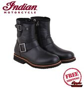 Genuine Indian Motorcycle Menand039s Black Engineer Boots New Scout Chief Roadmaster
