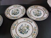 Warwick Restaurant Weight Indian Tree Dinner Plates Made For Slocum China Compan