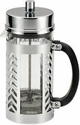 French Press Coffee Tea Maker 8 Cup Chevron Stainless Steel 8 Cups Brewed Brew