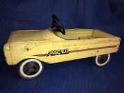 Vintage Amf Pacer Pedal Car Metal Yellow - Cool - Free Shipping