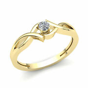 Natural 3/4ct Round Cut Diamond Womenand039s Solitaire Engagement Ring 18k Gold