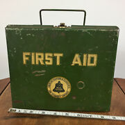 Vintage Bell System Telegraph Telephone First Aid Kit Metal Industrial Box Case