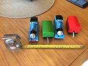 Lot Of 2 Thomas The Tank Engines And 2 Rail Cars