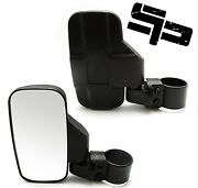 Utv Side View Mirror For 1.5 - 2 Roll Cage Breakaway Mirrors For Polaris Rzr C