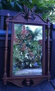 Vintage Antique Style Republican American Faux Wood Wall Mirror Eagle