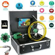 9lcd Pipe Inspection Hd Video Camera 6w Led Ip68 Drain Pipe Sewer 8gb Tf Card
