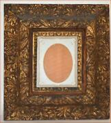 Fantastic Wood And Gesso Gold Ornate Frame Exceptional Example 1800s