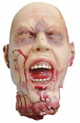 Ripped Off Head Lifesize Latex Halloween Prop Haunted House Decoration