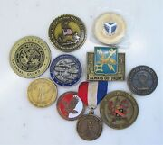 Lot Of 10 Military Challenge Coin Misc. Units And Branches C2211