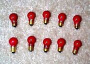 American Flyer Lionel 1449r Lamps 14v Red 10 Painted Mint