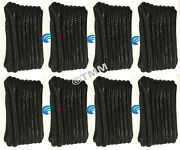 8 Black Double Braided 1/2 X 20and039 Ft Hq Boat Marine Dock Lines Mooring Ropes