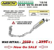 Kawasaki Zx 6r 12 2012 13 2013 Exhaust Full Sys Arrow Competition Evo Sbk Repl