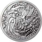 2017 5oz Ariel The Tree Fairy Proof Reddit Silverbugs Silver Round .999 777