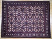 10and039x12and0399 Afghan Khamyab Repetitive Design Silky Wool Hand Knotted Rug G43654