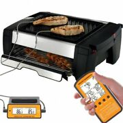 Grill Bbq Wireless Remote Digital Cooking Meat Thermometer Smoker Dual Probe Hot